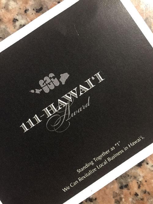 111 Hawaii Award 2017